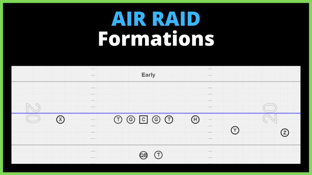 air raid offense formations